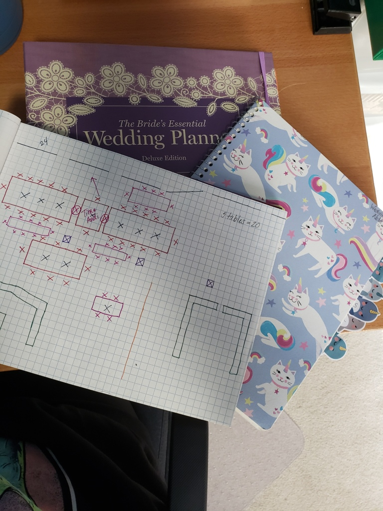 My wedding planning notebooks