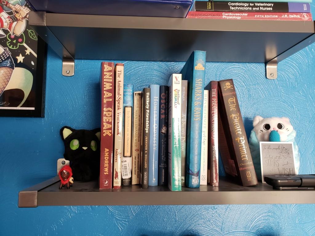 Shelf of non-fiction books